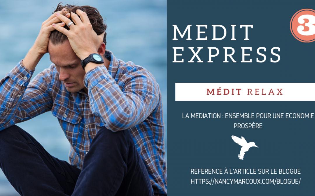 «Médit Relax» La médiation : ensemble pour une économie prospère.
